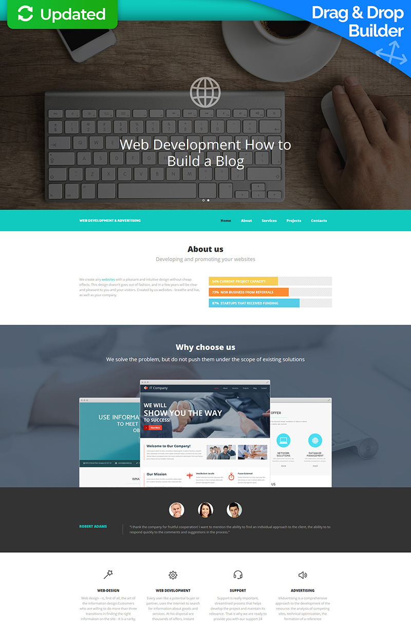 Software Development Moto CMS 3 Template