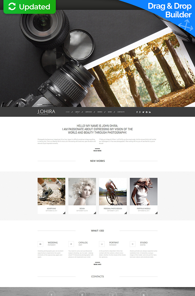 Ohira - Photographer Moto CMS 3 Template