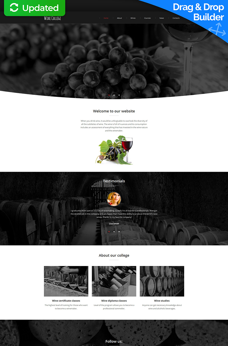 Online Wine Club Moto CMS 3 Template