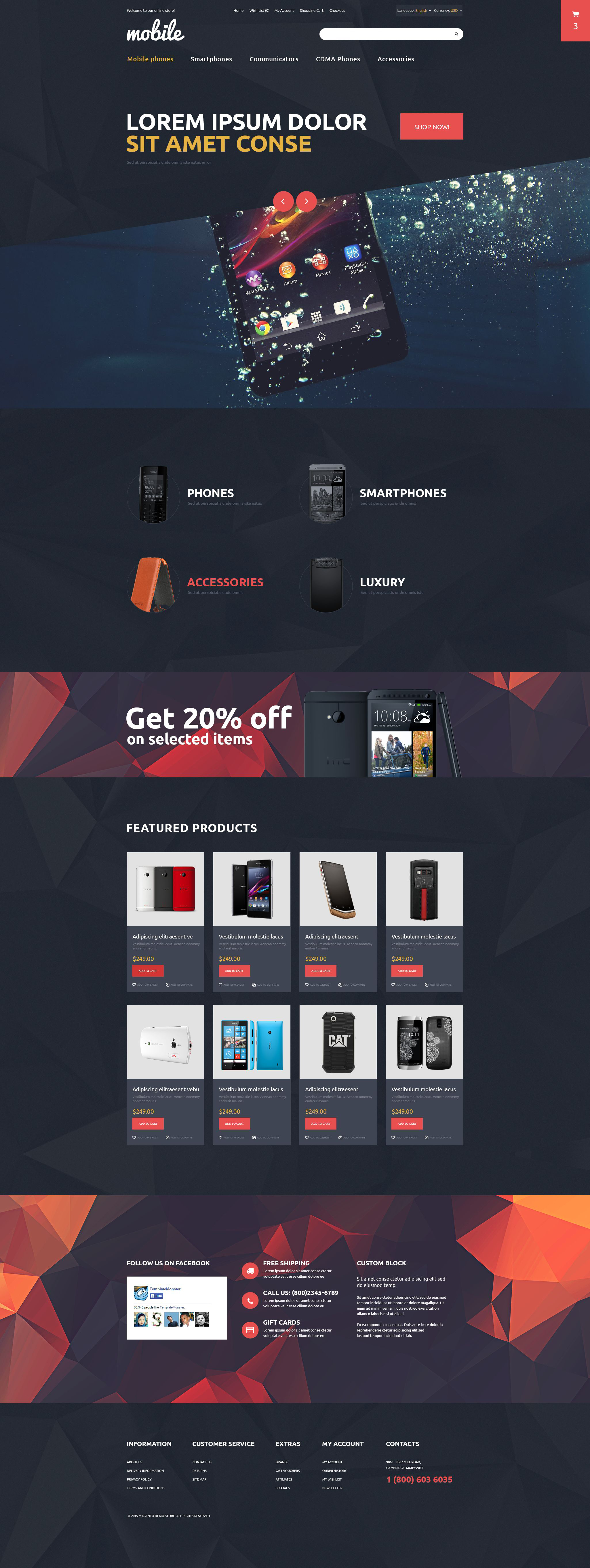 Mobile OpenCart Template