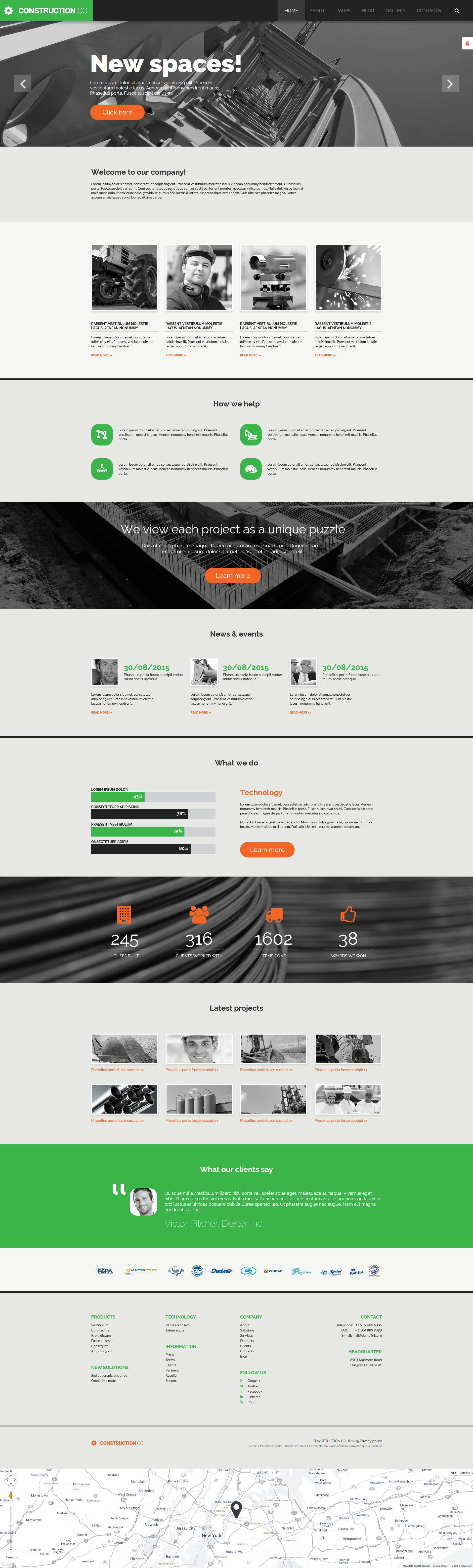Construction Co. - Construction Company Multipage Corporative Joomla Template