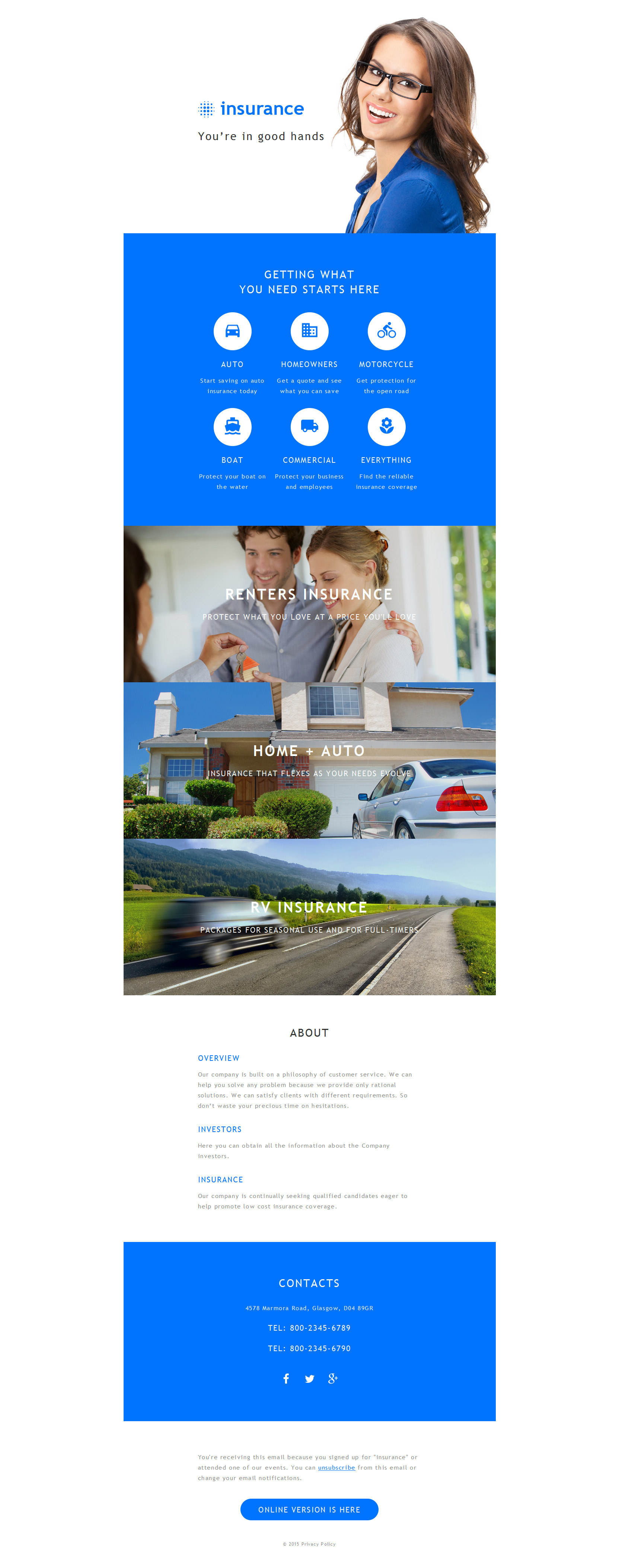 Insurance Responsive Newsletter Template