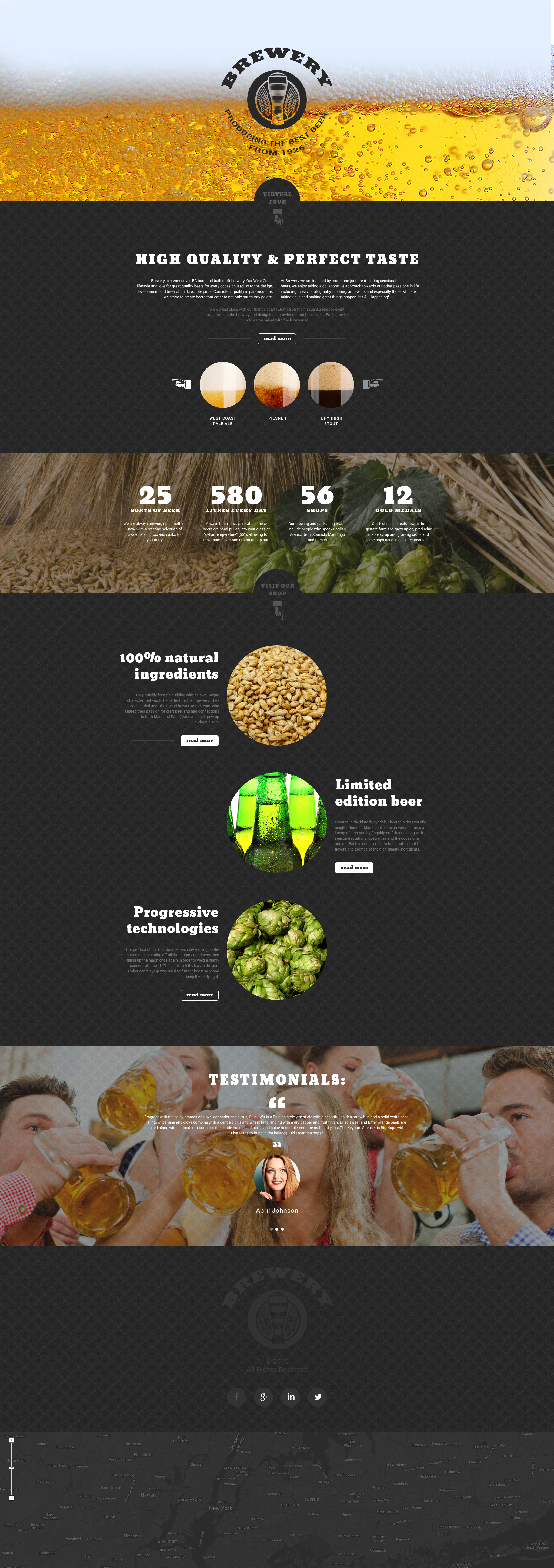 Brewery Responsive Landing Page Template