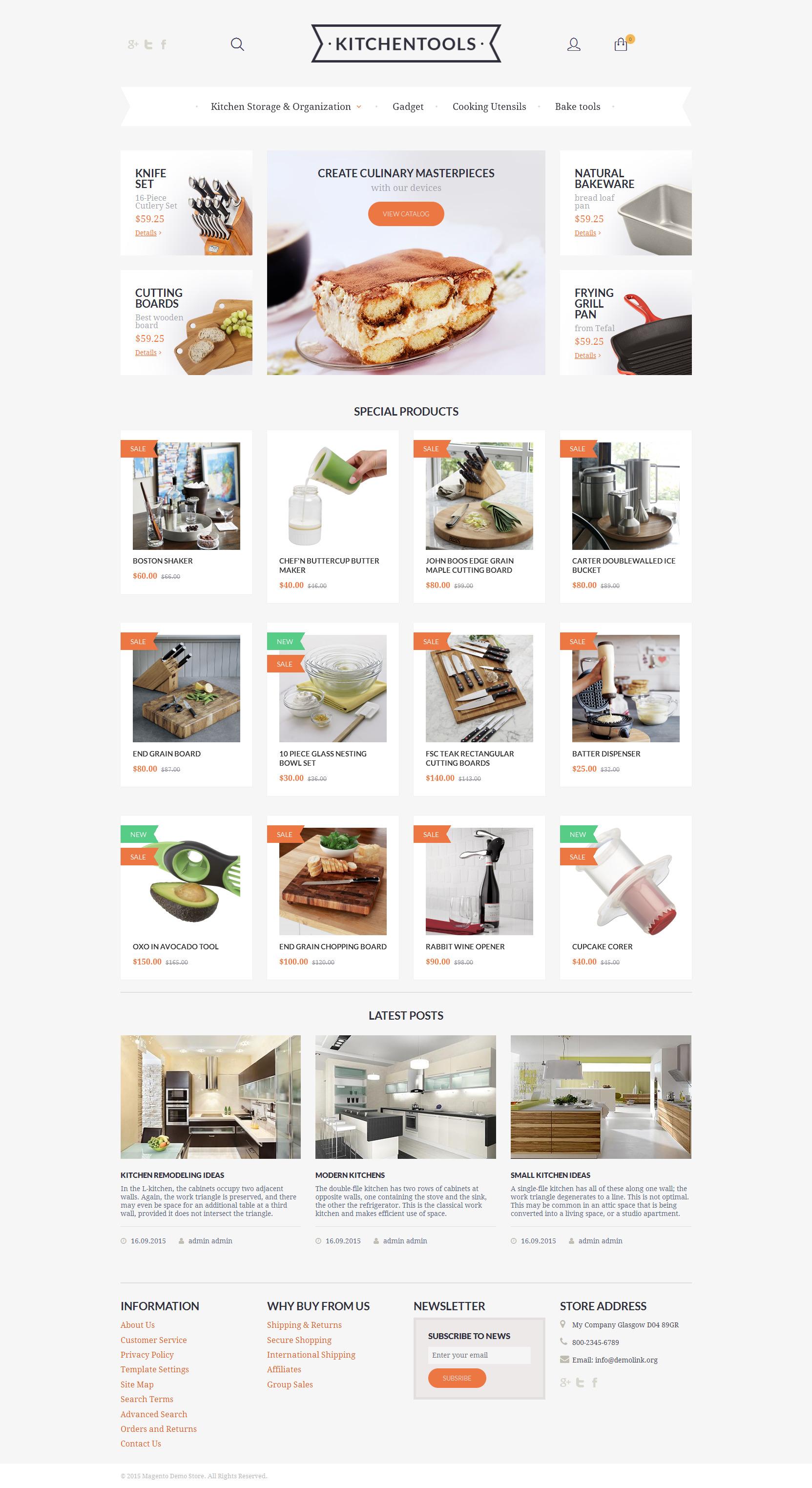 Kitchen Tools Magento Theme