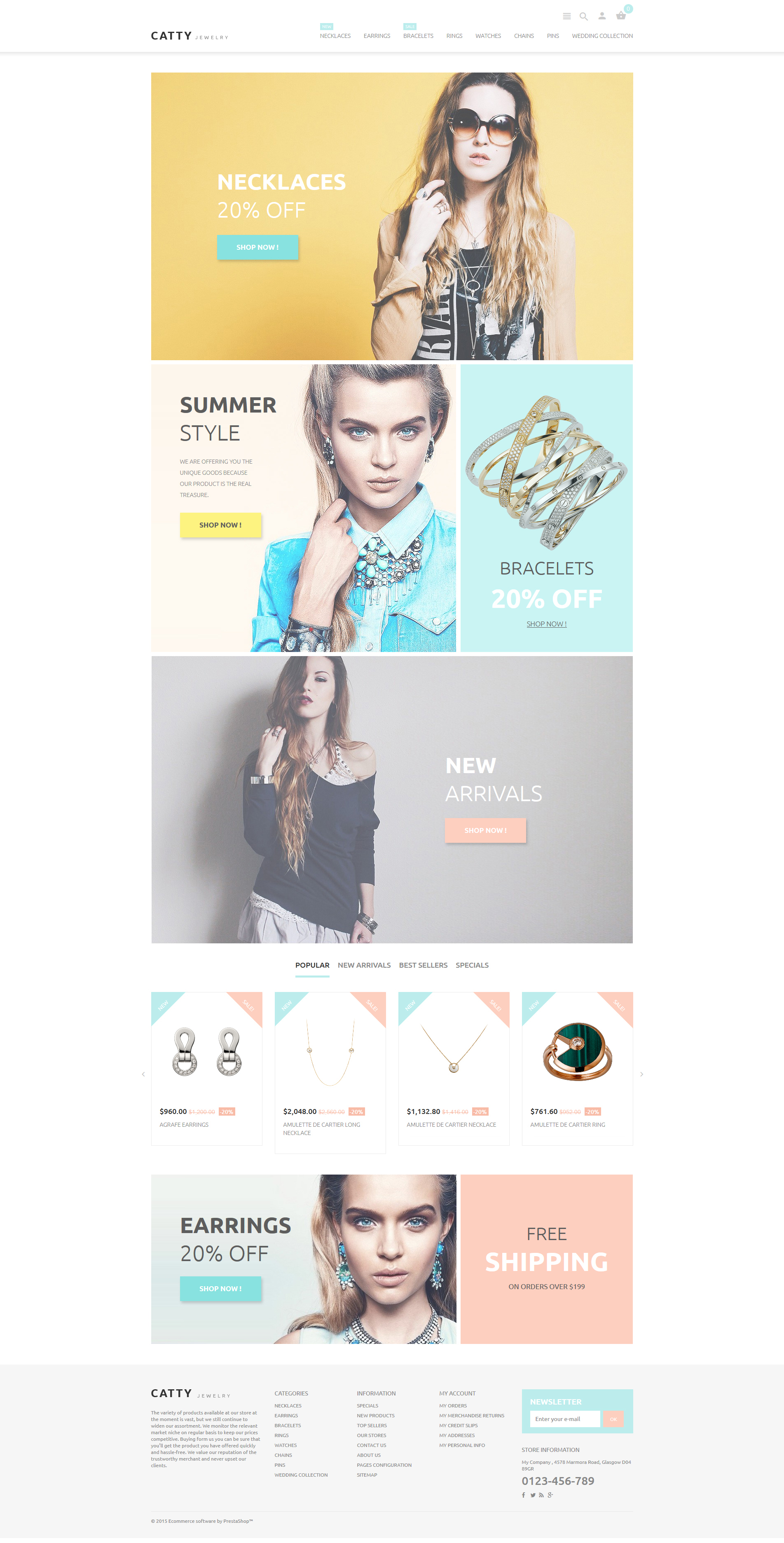 Catty Jewelry PrestaShop Theme