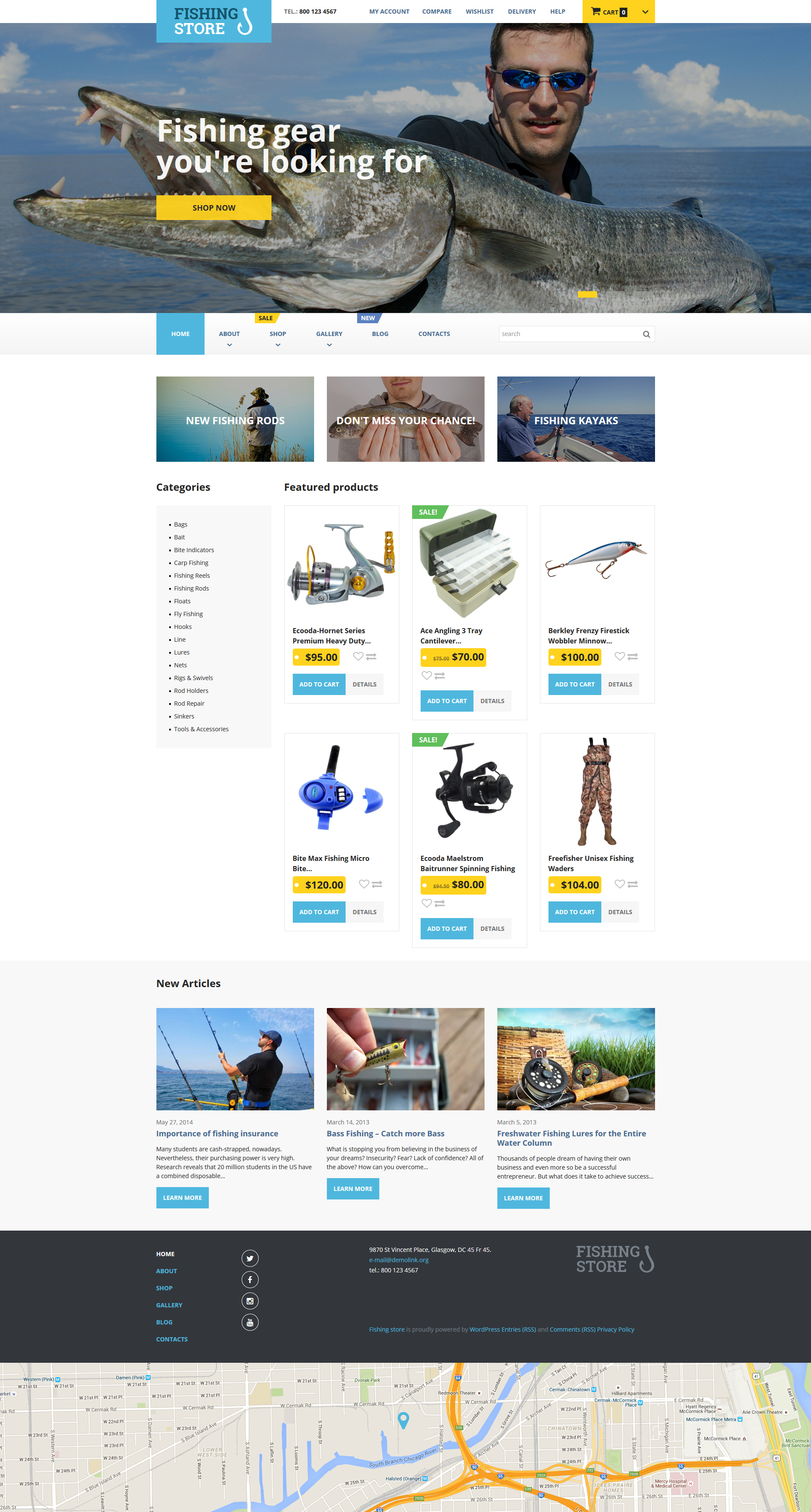 Fishing Store WooCommerce Theme