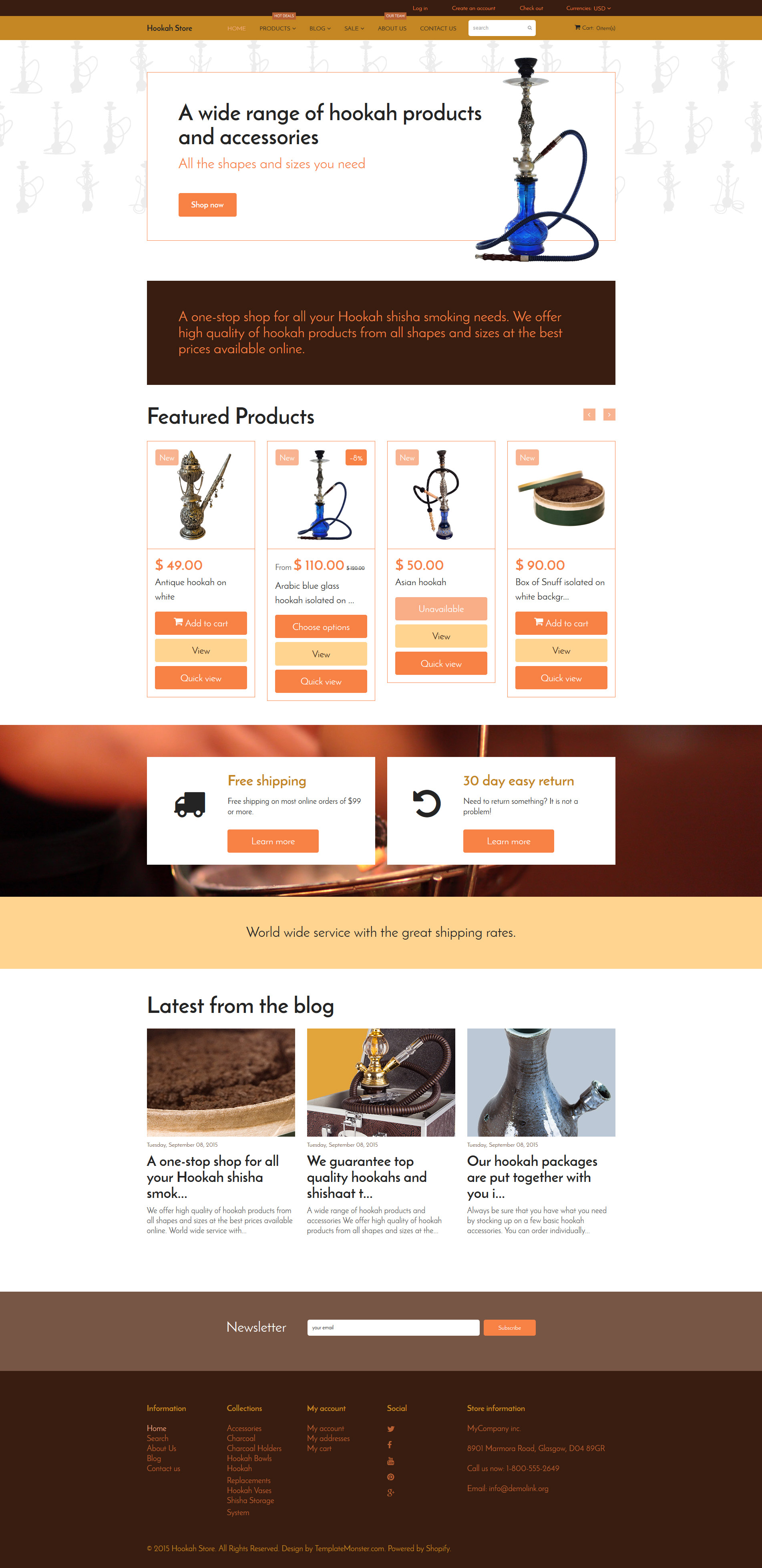 Tobacco Shopify Theme