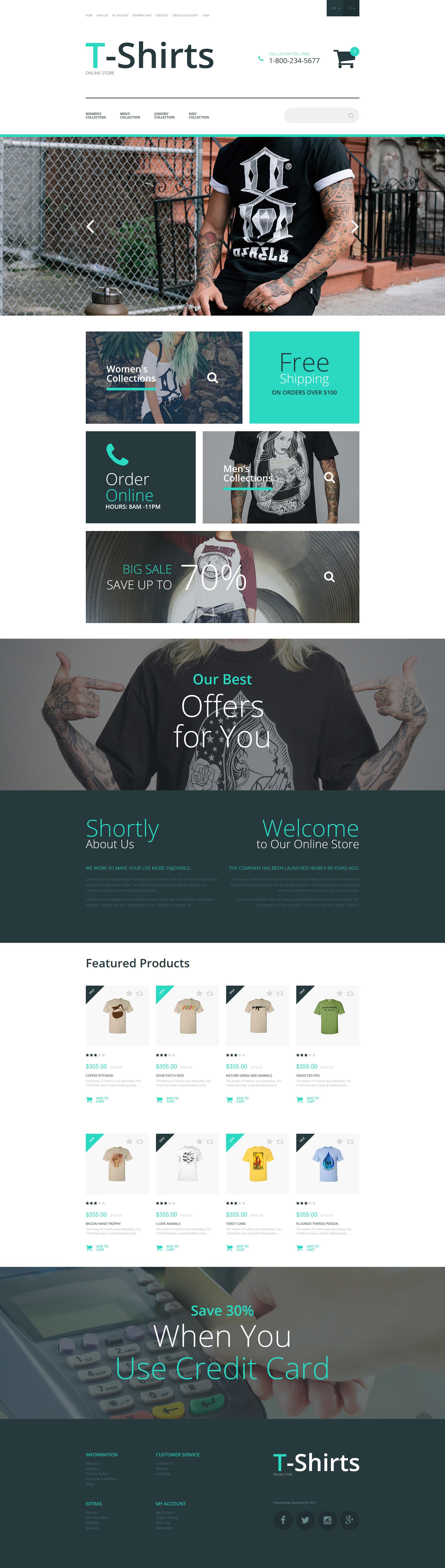 T-Shirt Stock OpenCart Template