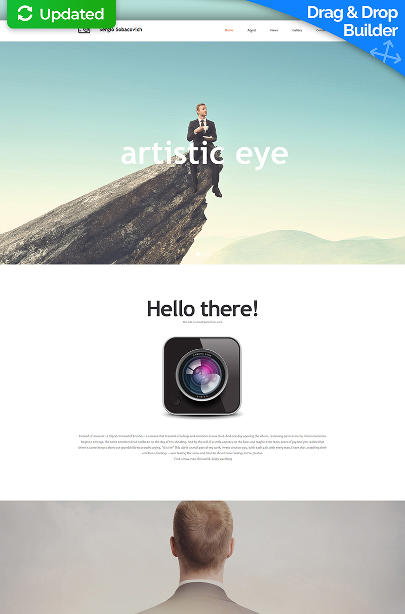 Professional Photographer Moto CMS 3 Template