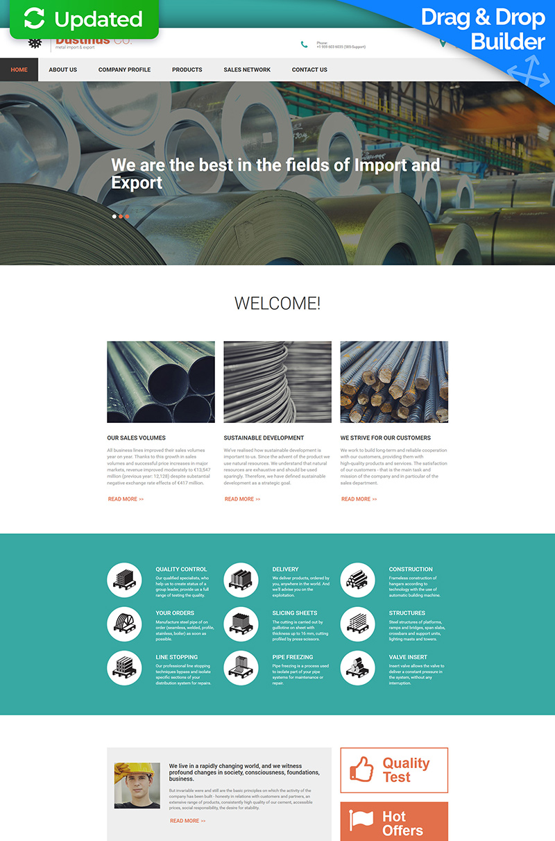 Steel Industry Moto CMS 3 Template
