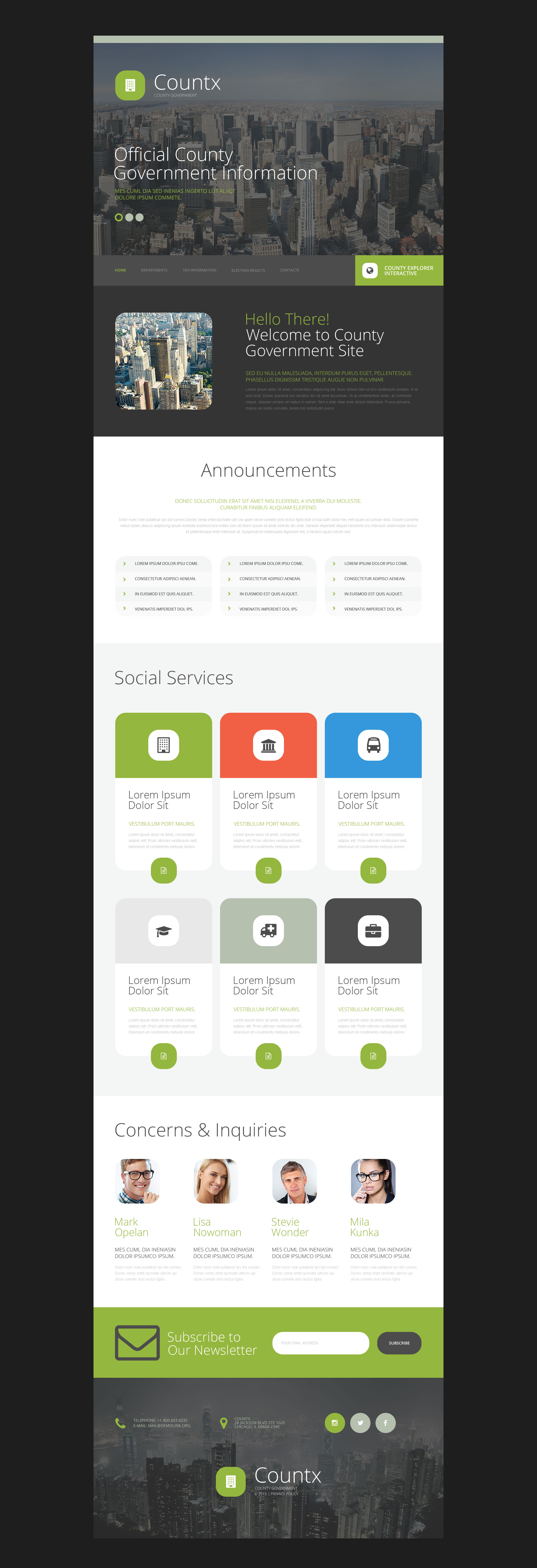 Countx Website Template