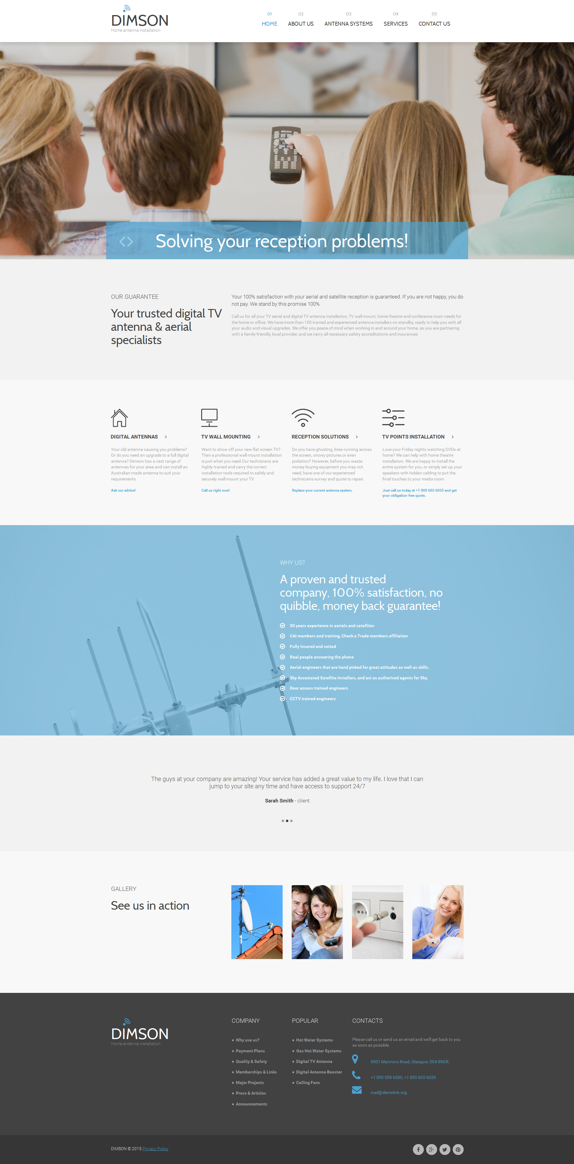 Maintenance Services Responsive Moto CMS 3 Template