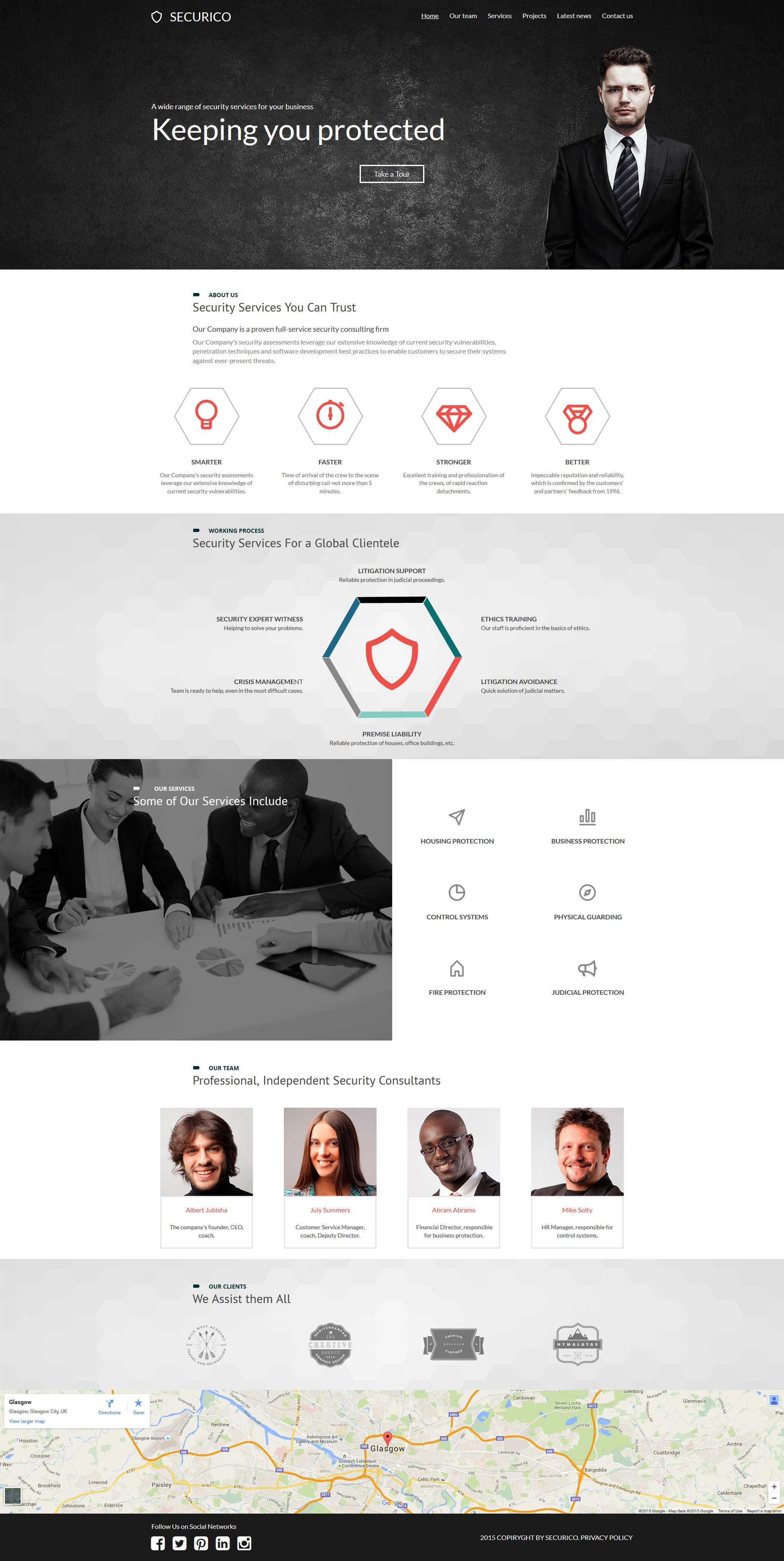 Security Company Moto CMS 3 Template