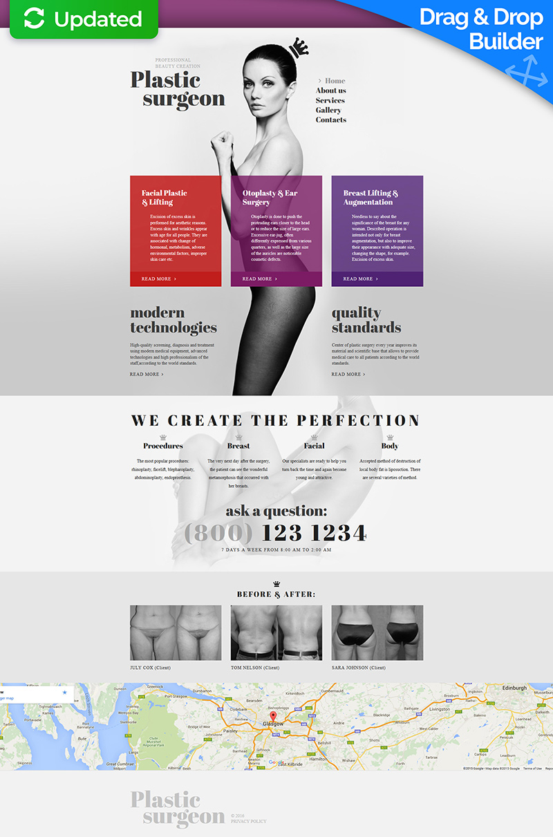 Plastic Surgeon Moto CMS 3 Template