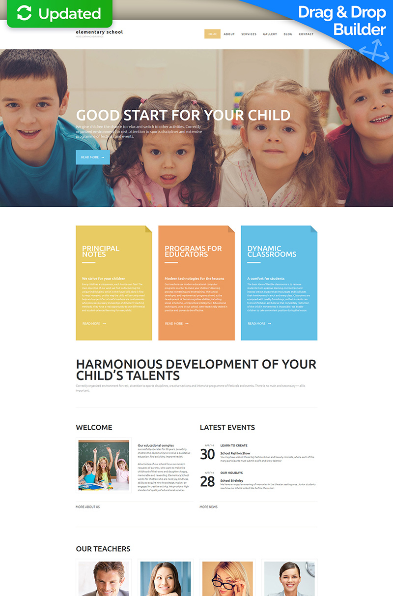Primary School Moto CMS 3 Template