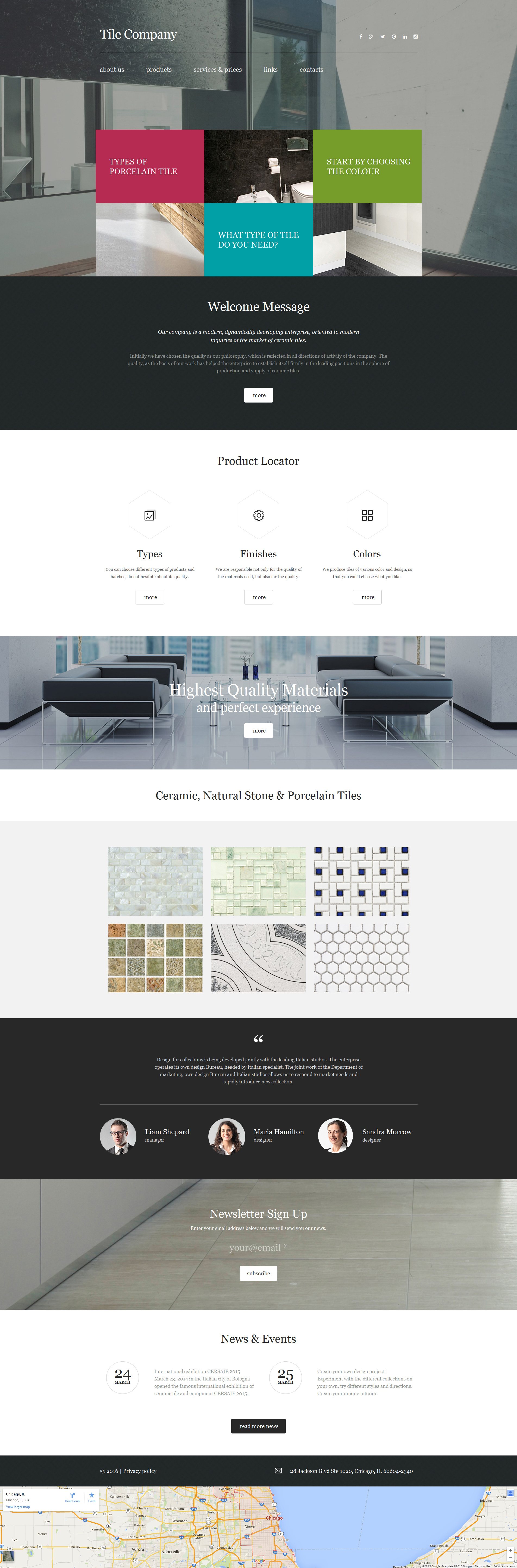 Interior Design Moto CMS 3 Template
