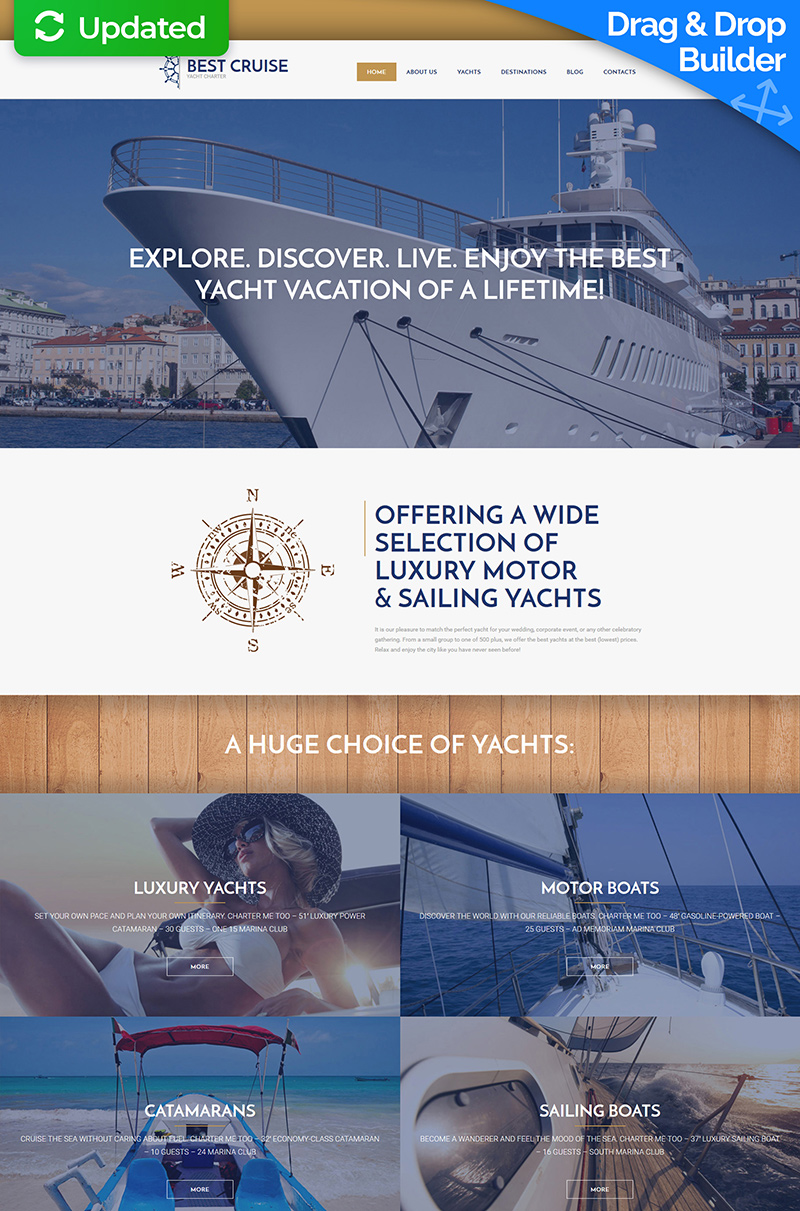 Luxury Yachting Moto CMS 3 Template