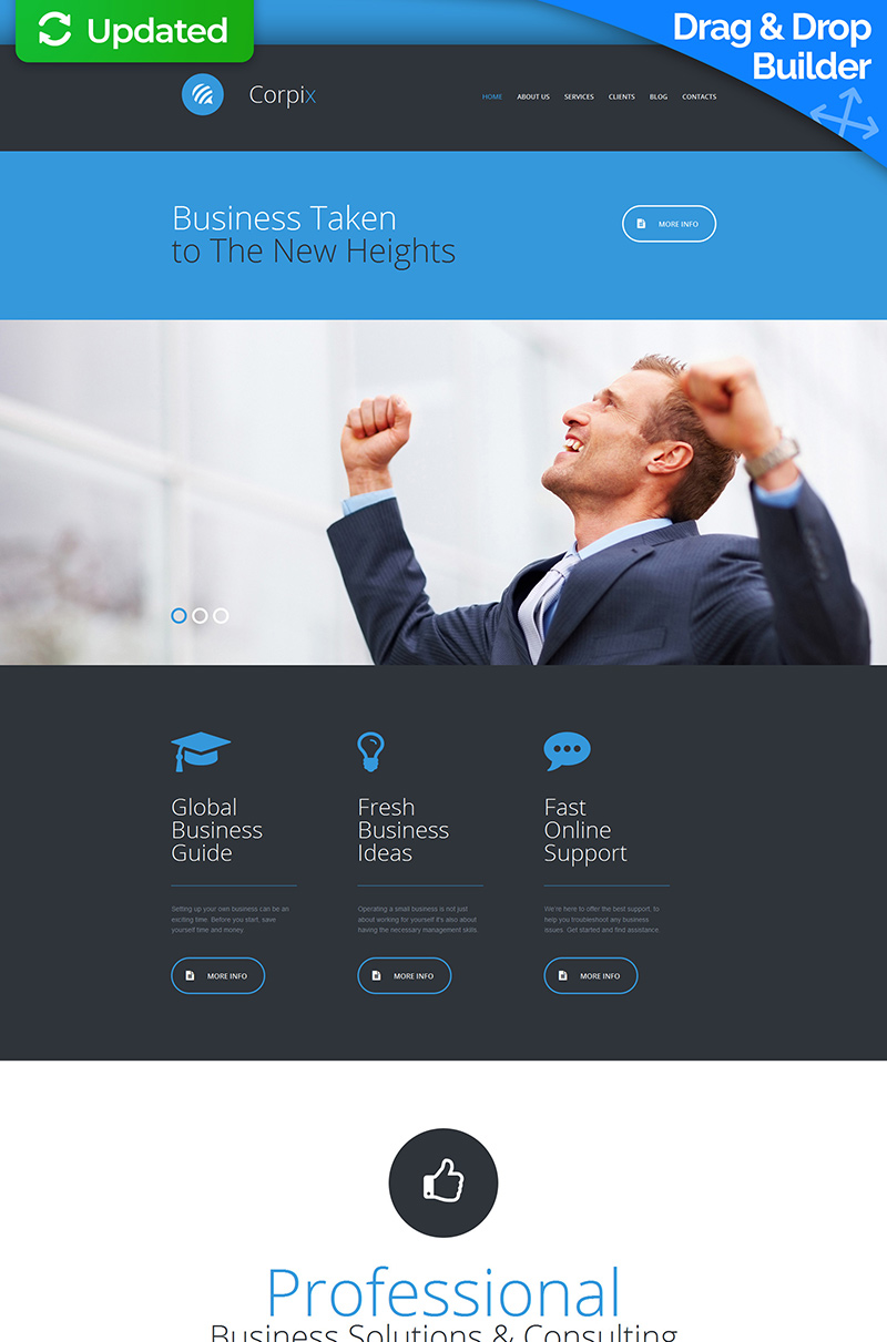 Business Consulting Moto CMS 3 Template