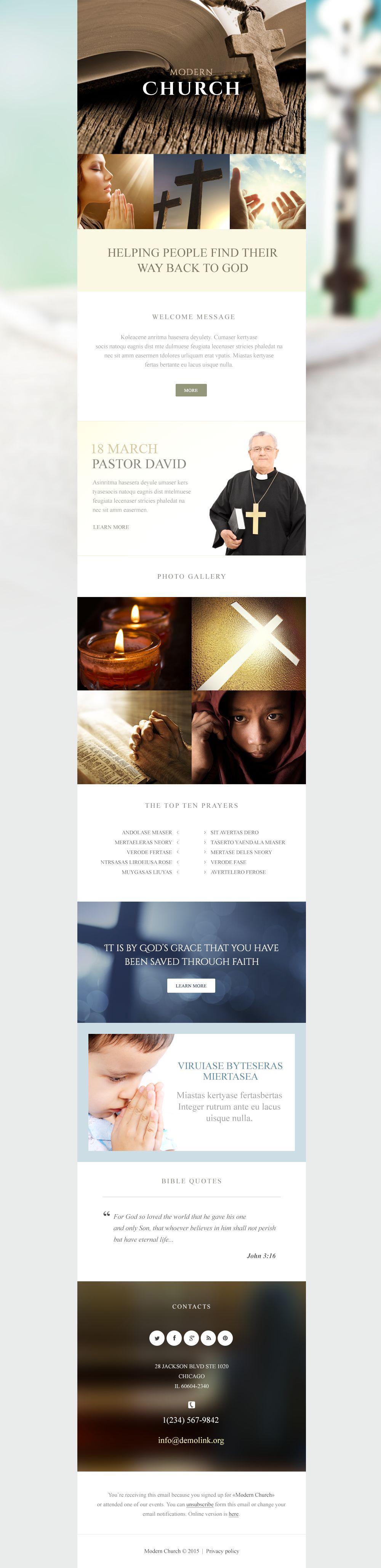 Religious Responsive Newsletter Template