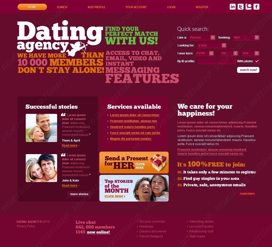Шаблоны сайта знакомств купить