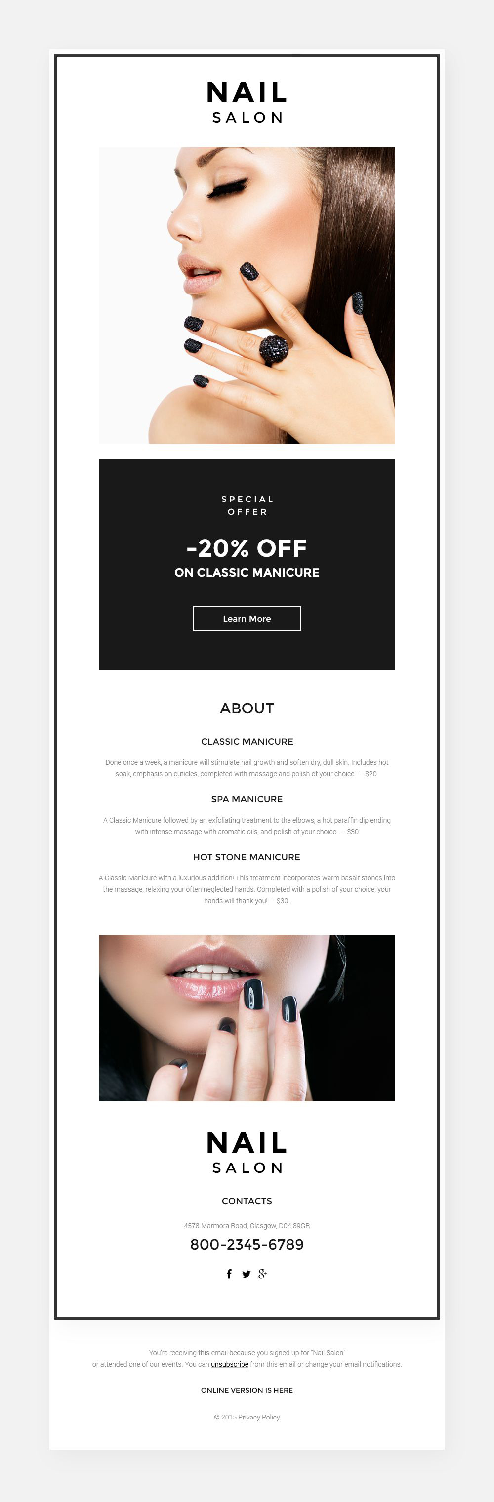 Nail Salon Responsive Newsletter Template