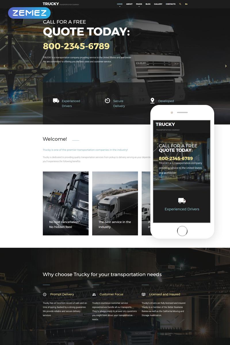 Trucky - Transportation Company Joomla Template