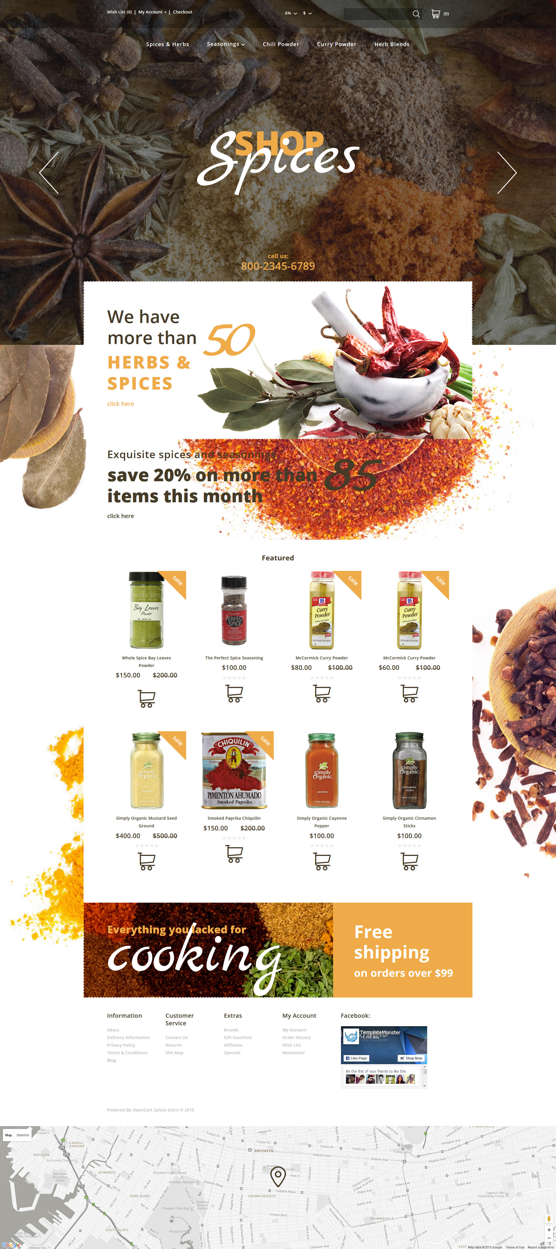Spices Shop OpenCart Template