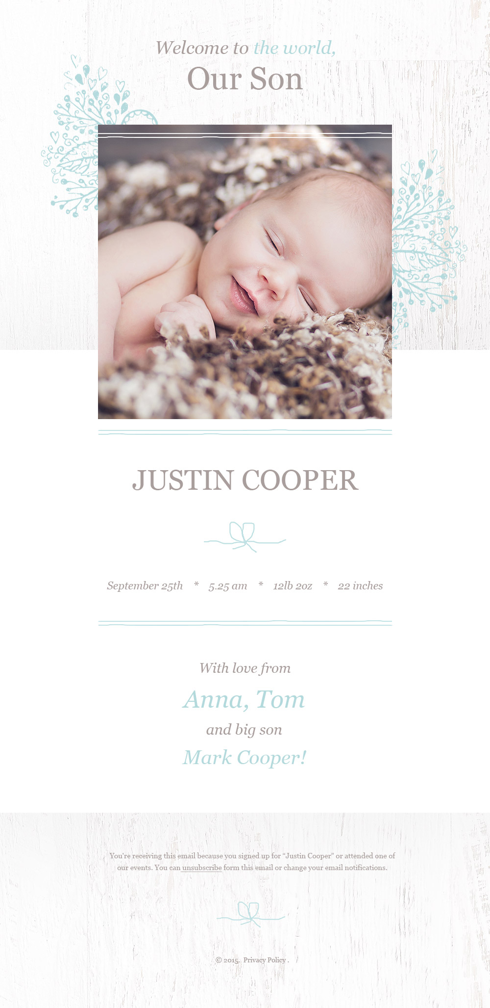 Newborn Responsive Newsletter Template