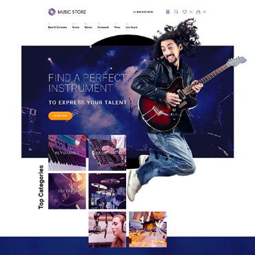 Template Muzică OpenCart #57715