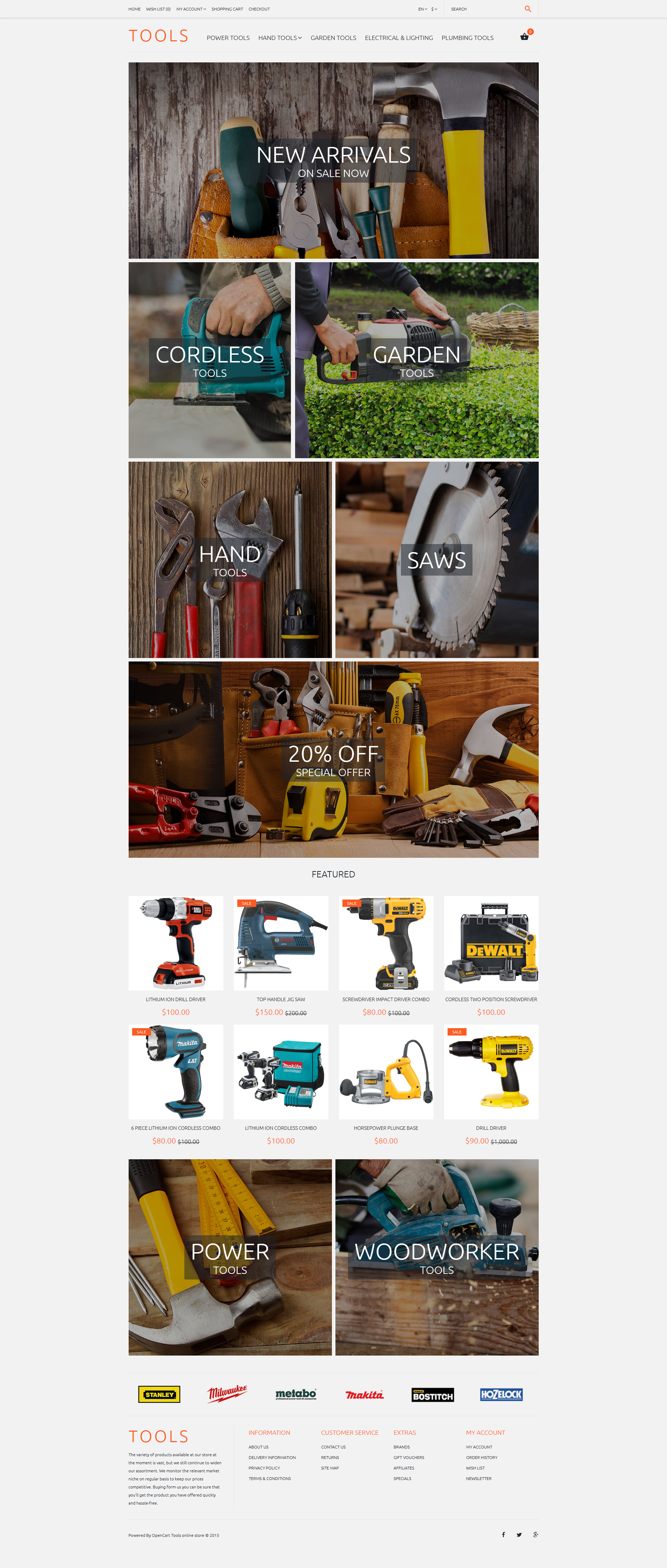Tools OpenCart Template