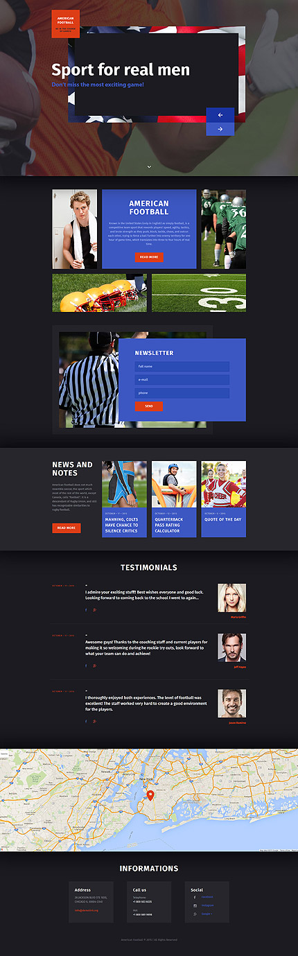 Sport Football Website Templates and Web Themes (Search