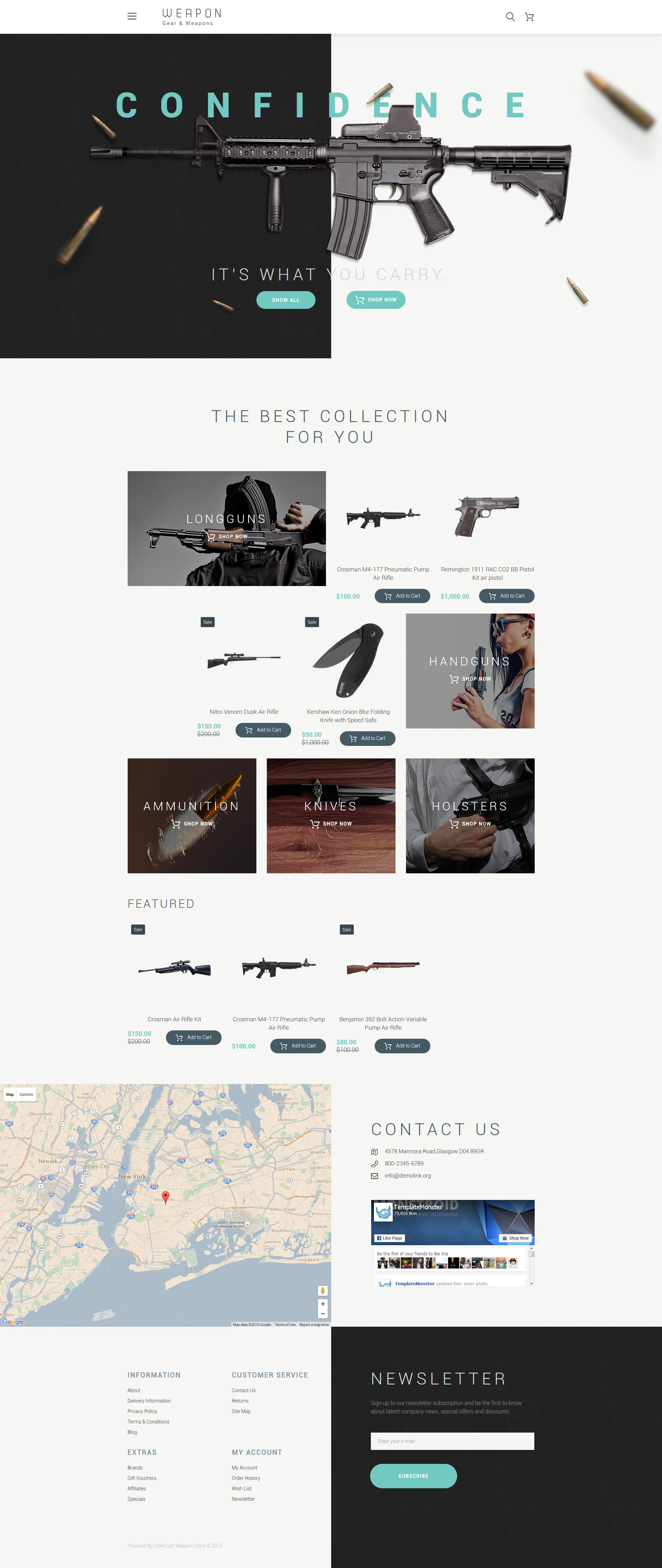 Weapon OpenCart Template