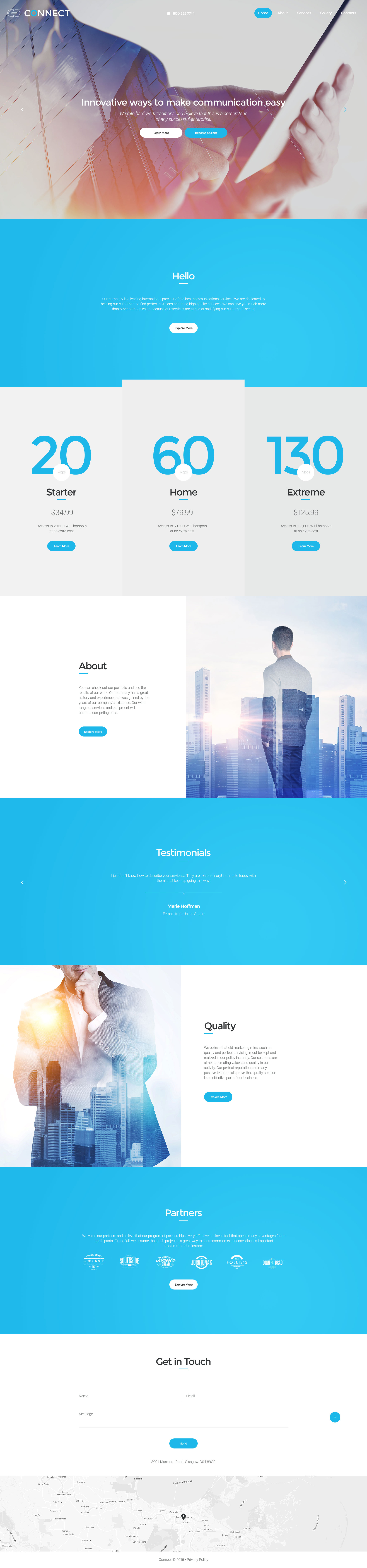 Connect Website Template
