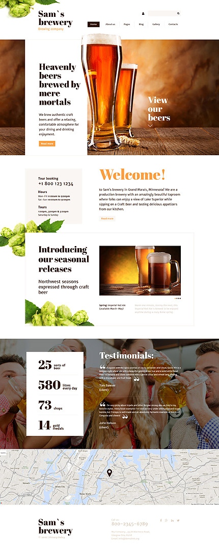 Template 57870 ensegna themes for Brewery layout software