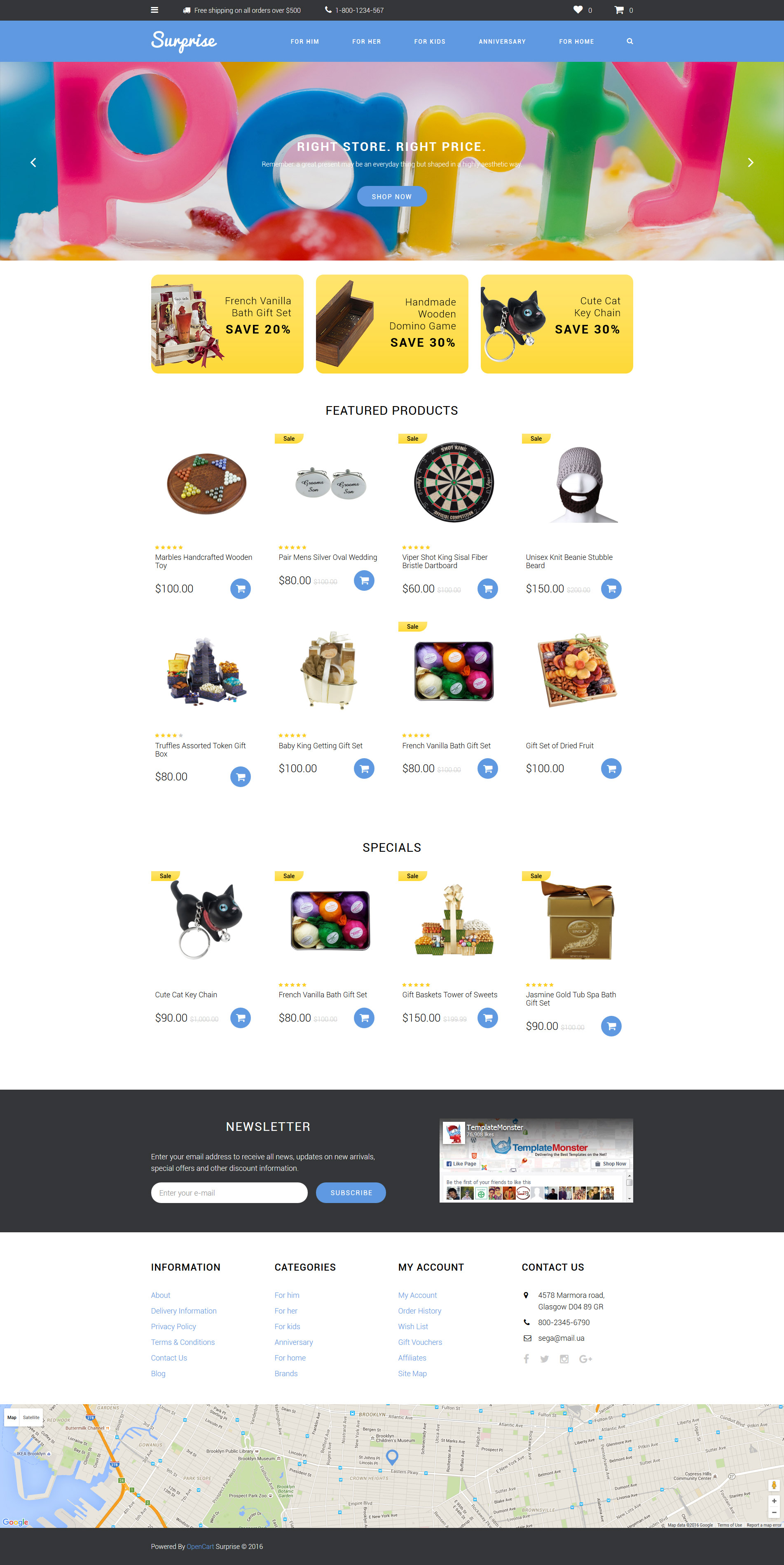 Surprise OpenCart Template