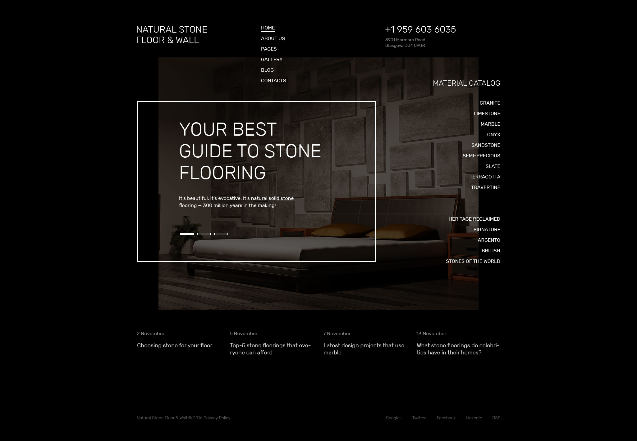 Natural Stone Floor Joomla Template