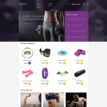 Template Sport VirtueMart #58038