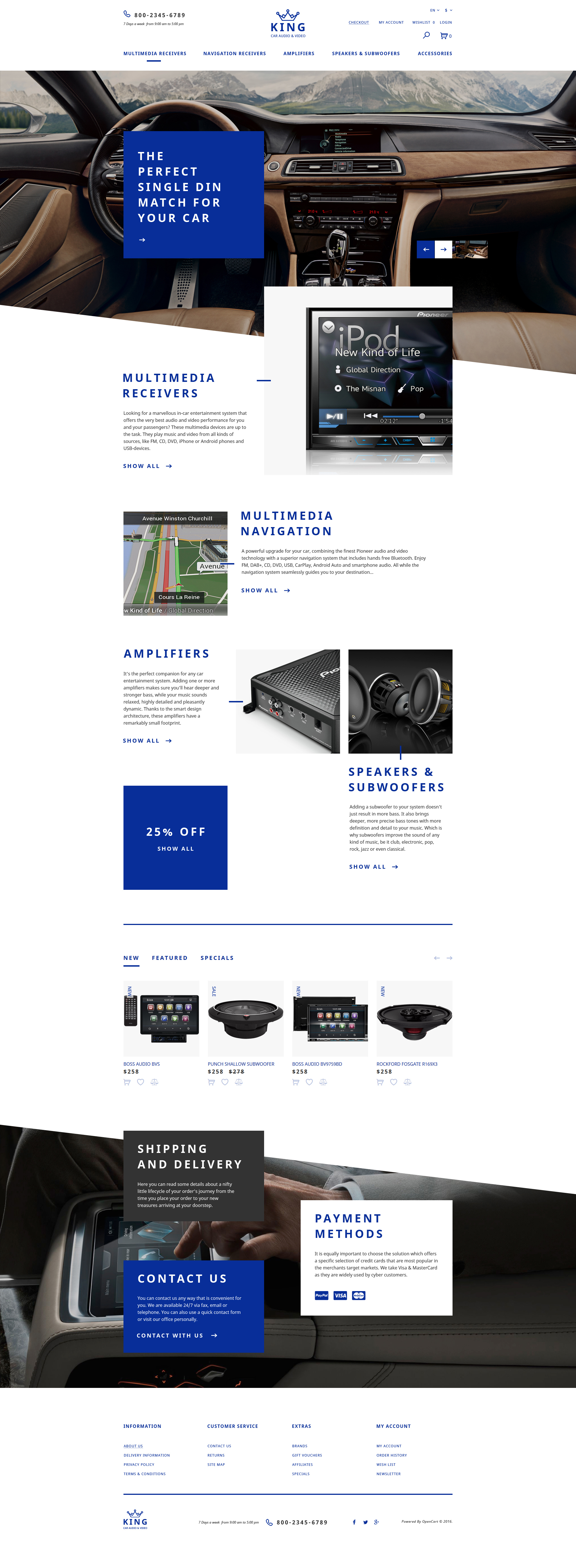 Car Audio  Video OpenCart Template