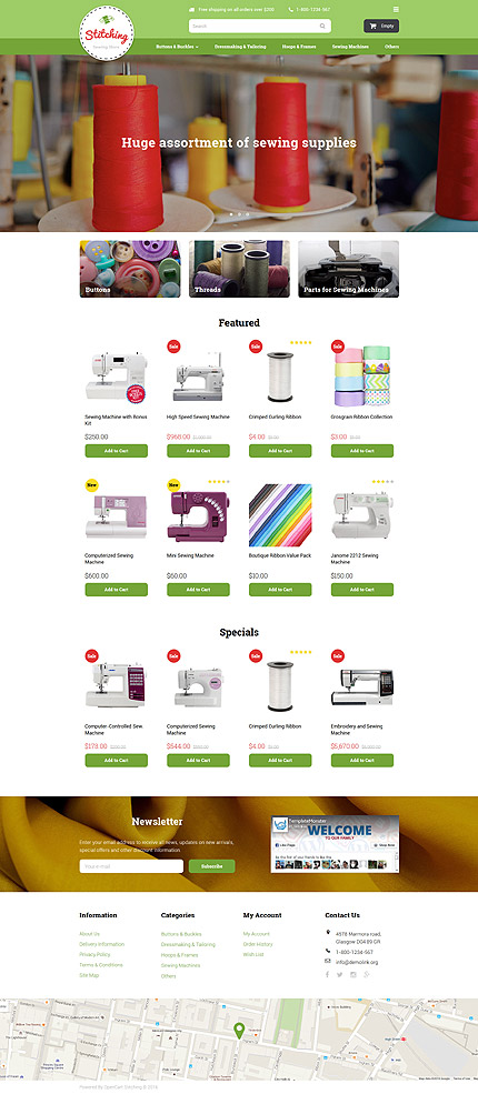 Template 58054 ensegna themes for Opencart bookstore template