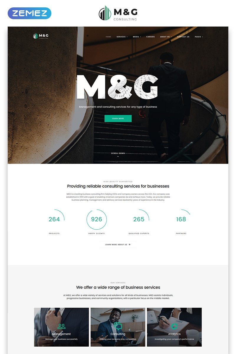 Template HTML5 per un Sito Web