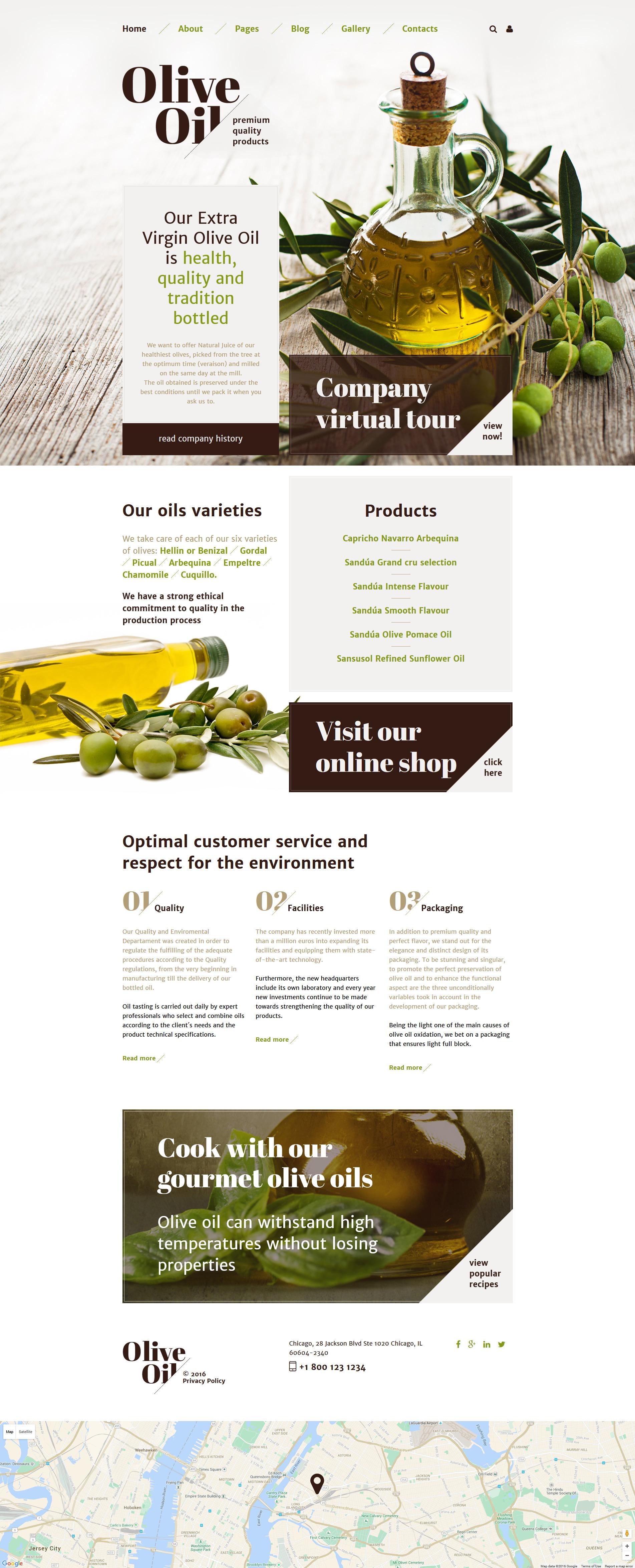 Olive Oil Joomla Template