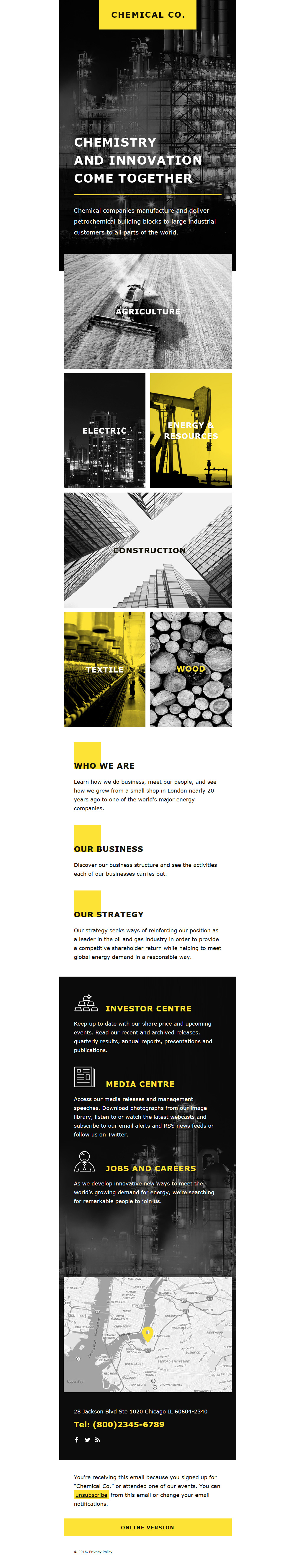 Industrial Responsive Newsletter Template