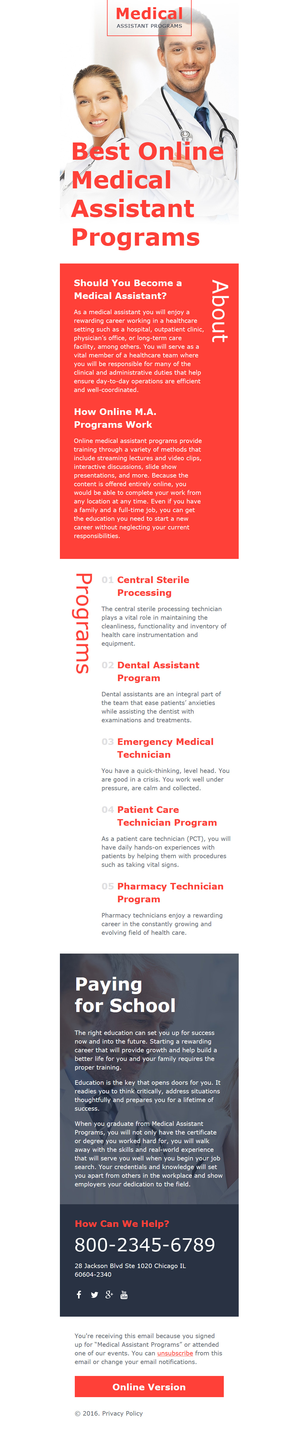 Medical Responsive Newsletter Template