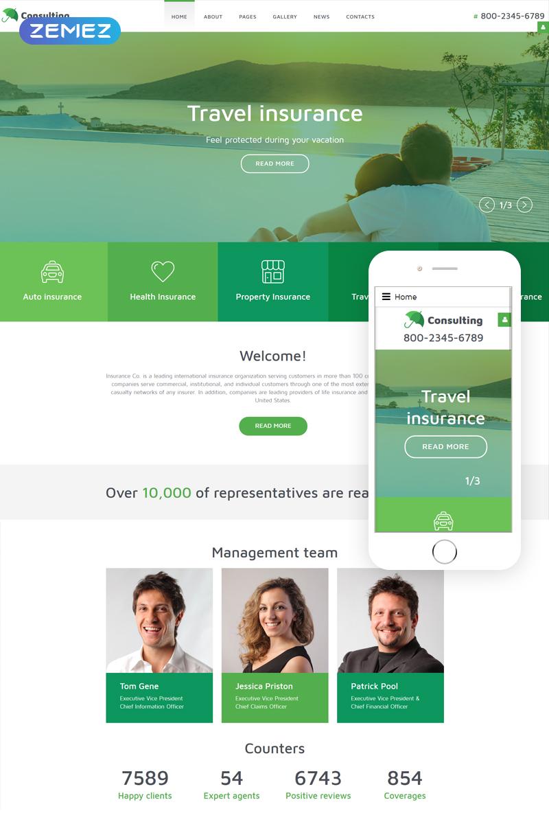 InsuranceCo - Consulting & Finance Joomla Template