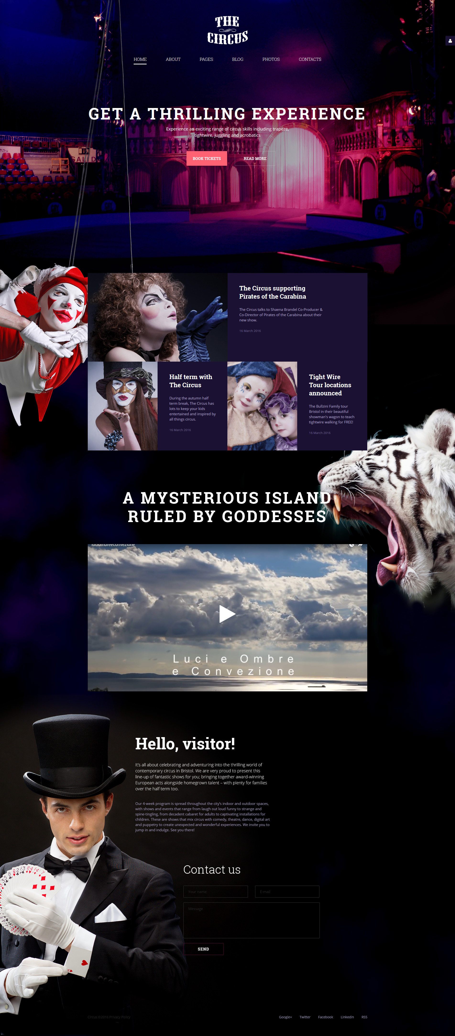 The Circus Joomla Template