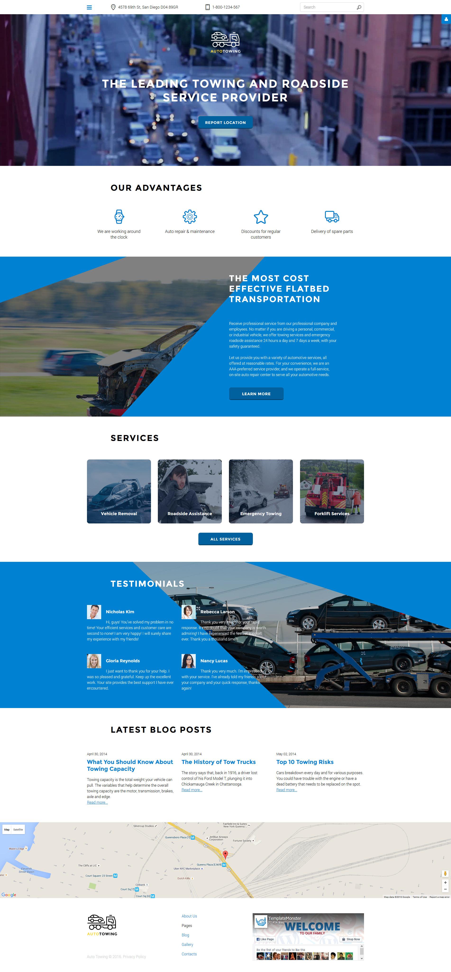 Auto Towing Responsive Joomla Template