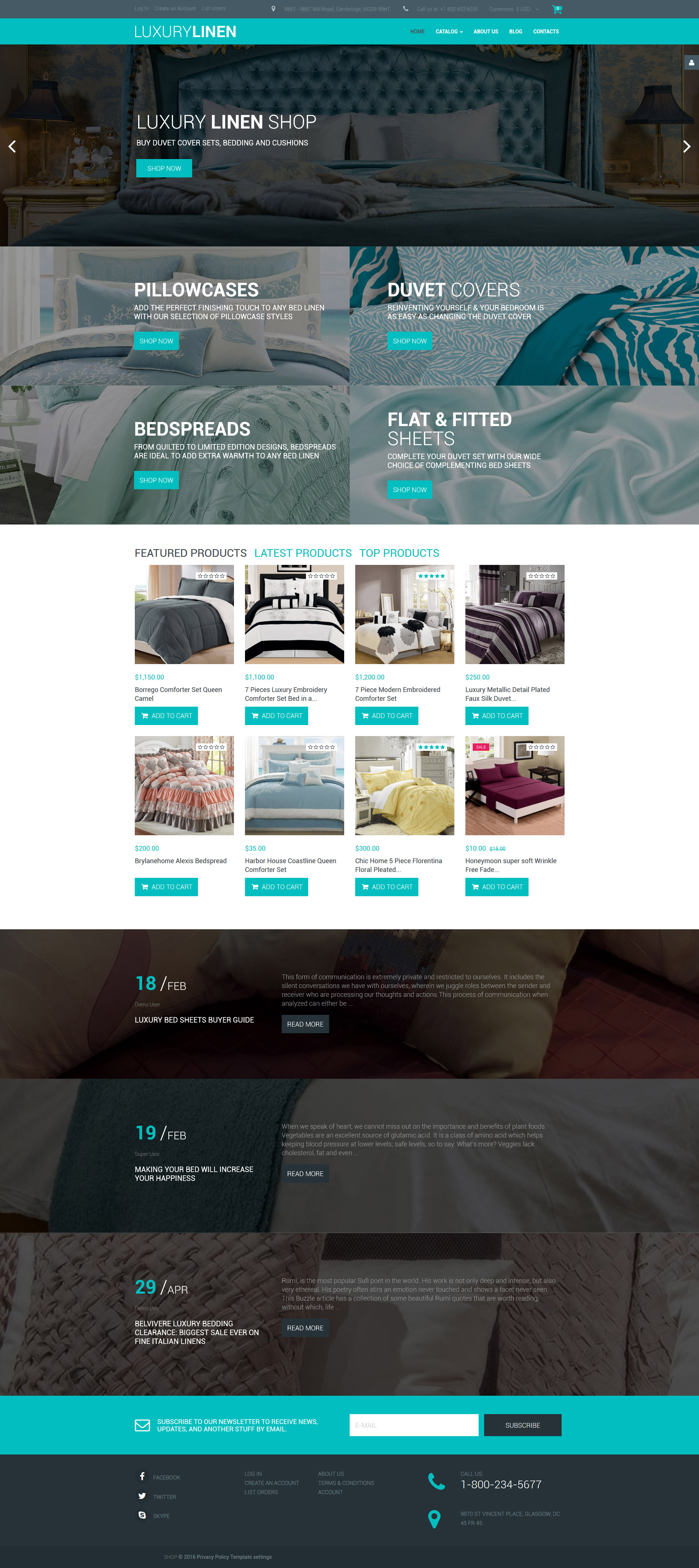 Linen & Lace VirtueMart Template