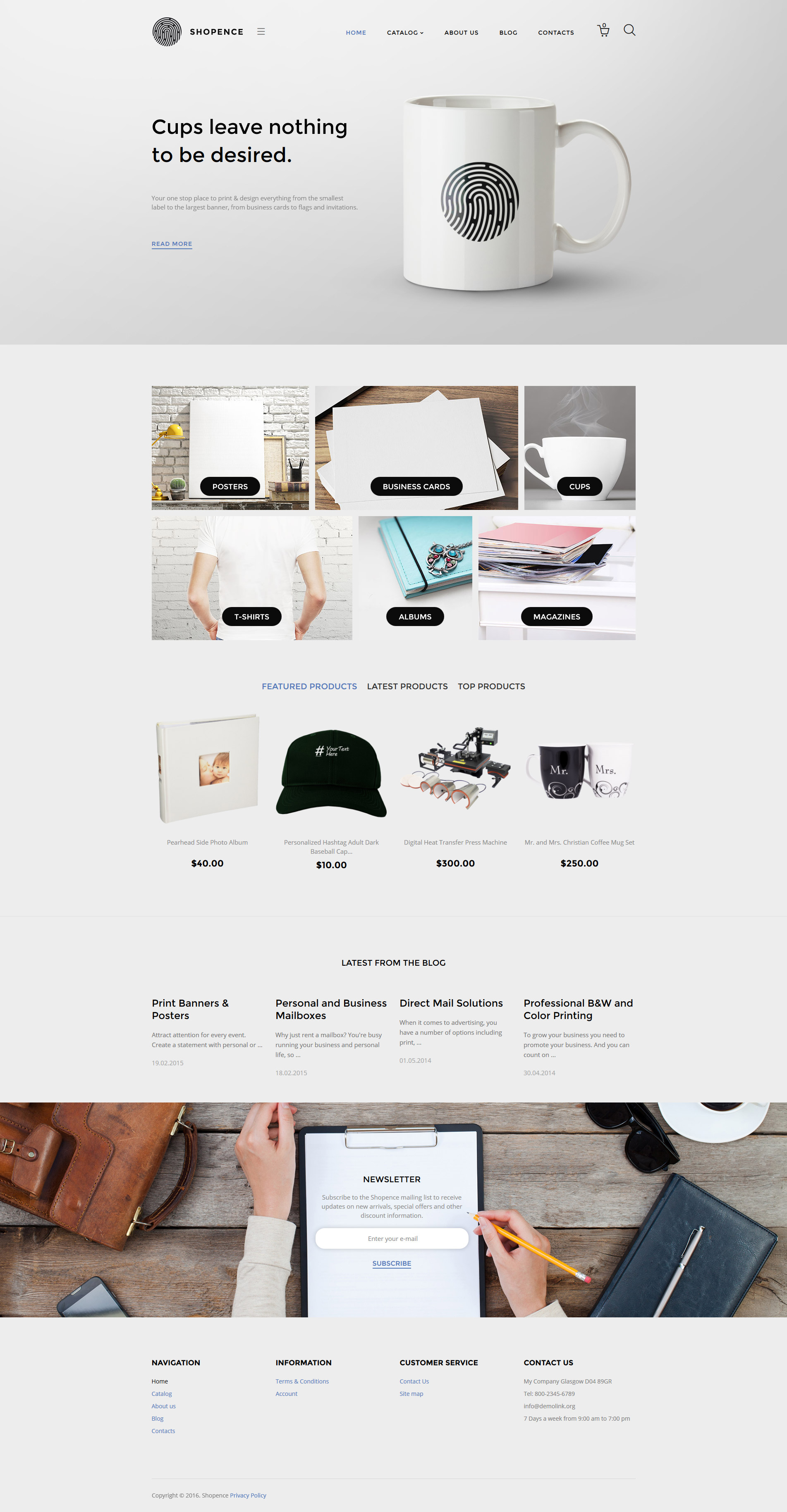 Shopence VirtueMart Template