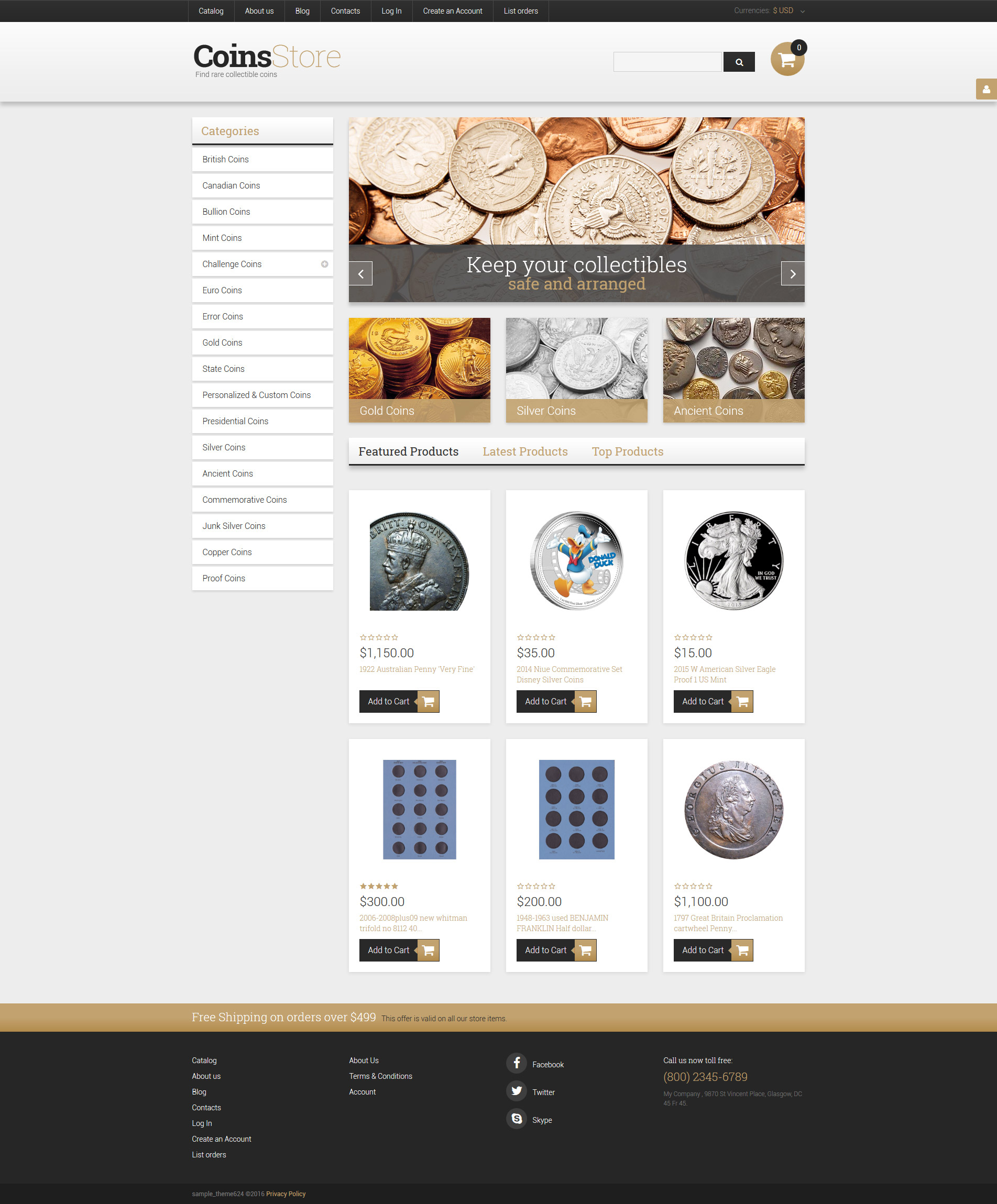 Antique Store VirtueMart Template