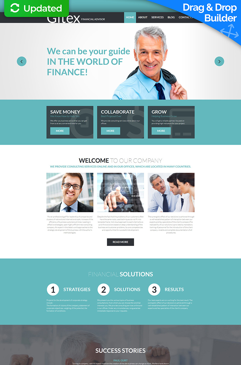 Gitex - Financial Advisor Moto CMS 3 Template
